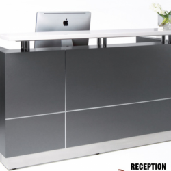 QT-102 Modern White or Grey Reception Station - Office Furniture Vaughan, Mississauga