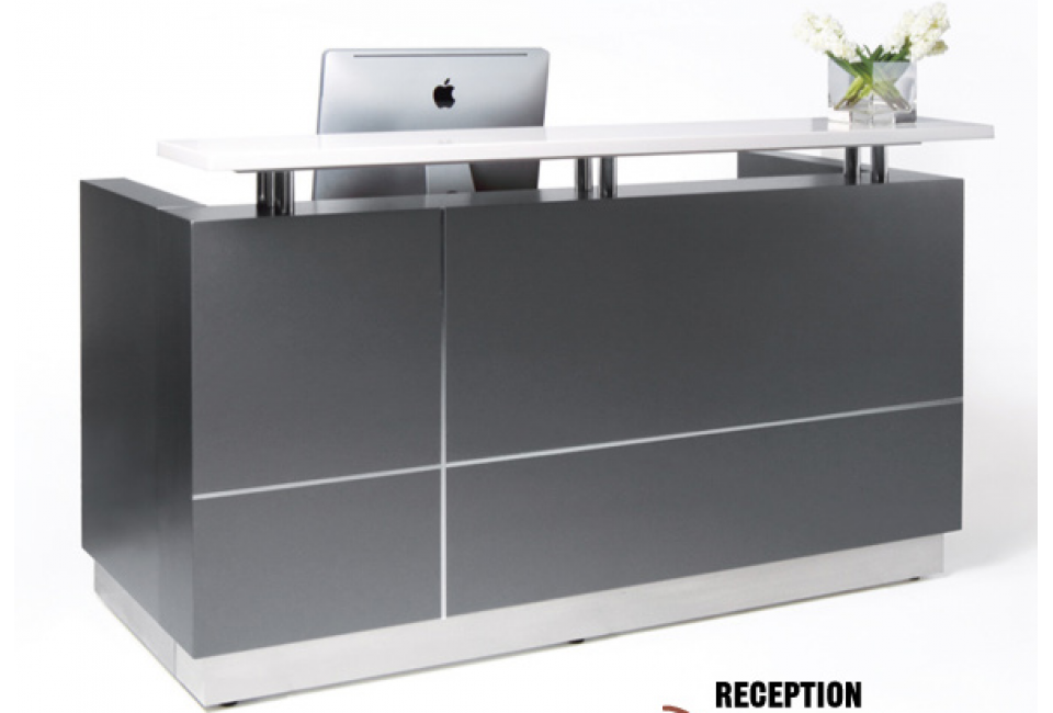 Qt 102 Modern White Or Grey Reception Station 71 Or 63